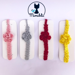 Headband with flower Crochet